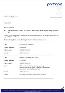 Insurance Certification